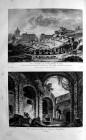 L'anfiteatro romano in due riproduzioni d'epoca (dal sito del Comune di Catania)