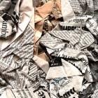 giornali accartocciati