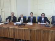 Conferenza Confcommercio. Da sinistra Garimberti, Barberi, Pappalardo, Politino
