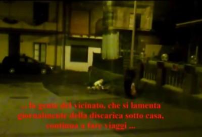 Un frame estratto (da Seby Bella) dal video del Comune di Belpasso