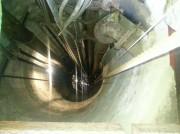 120 metri più sotto c'è l'acqua e il riverbero si vede