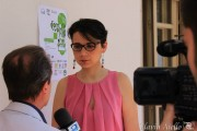 La giornalista Sarah Donzuso che organizzato il quadrangolare