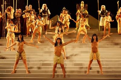 Le prove dell'Aida che andrà in scena a Siracusa il 12 luglio per la prima
