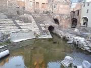 """Il """"laghetto"""" dell'Anfiteatro romano di a Catania"""