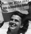 La prima pagina del Corriere della Sera per la nascita della Repubblica Italiana