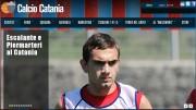 Escalante, ultimo acquisto del Calcio Catania (dal sito ufficiale della società)