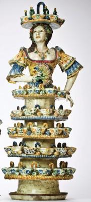 Morales Nicolò - Luce di donna maiolica, cm 85x32