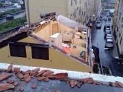 Un tetto scoperchiato  a Ognina dalla tromba d'aria che c'è stata a Catania il 5.11.2014