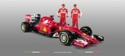 Raikkonen e Vettel dietro la nuova Ferrari SF15-T (fonte Ansa)