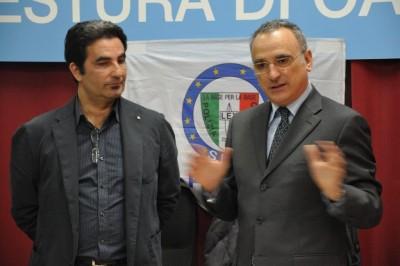 Il segretario del Siap Tommaso Vendemmia e il Questore di Catania Marcello Cardona