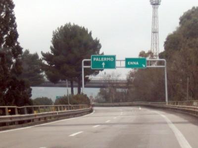 Un tratto della A19 Catania-Palermo