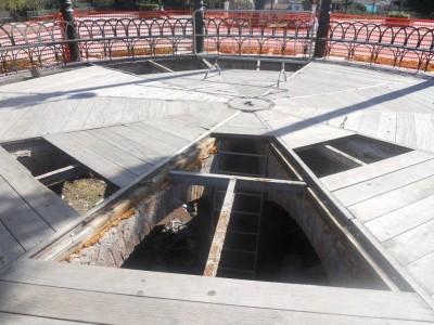 Il pavimento del palco della musica villa bellini catania