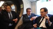 Orlando Crocetta e Bianco su treno veloce Palermo Catania