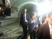 Stazione metro di corso Sicilia, il letto aspetta i binari
