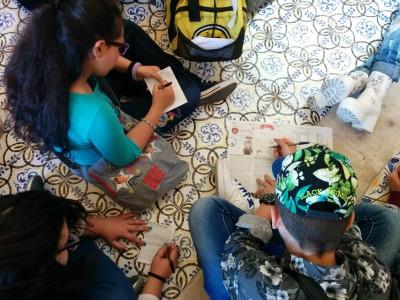 Alunni impegnati nel progetto Riappropriarsi dei beni culturali della propria città