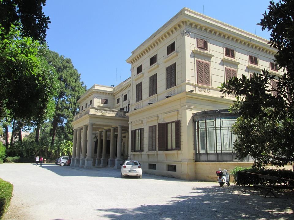 Villa Malfitano, il portico d'ingresso