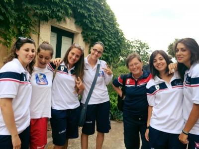 Alcune ragazze della Catania Rainbow Basket