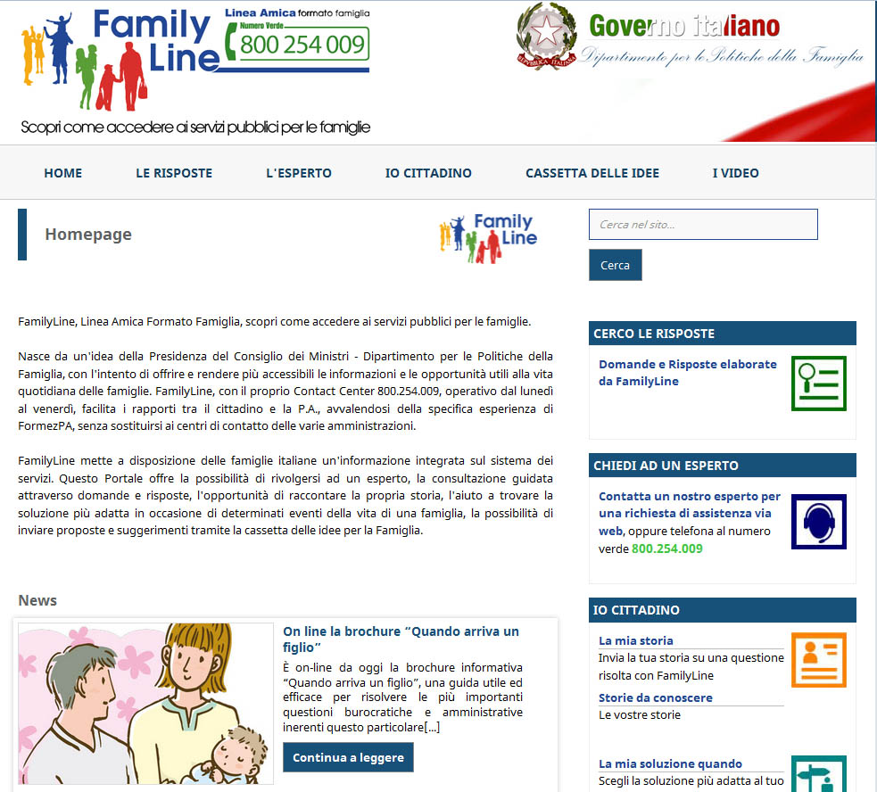 Family Line home page