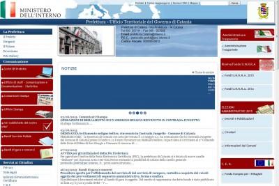 Home page Prefettura Catania