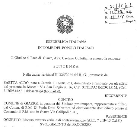 moto e strisce blu parcheggi sentenza-strisce-blu-1 Aldo Saetta conclusione copia