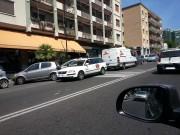 Parcheggio in doppia fila in viale V. Veneto