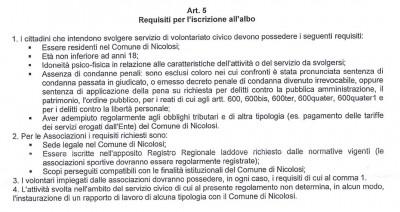 I requisiti di accesso per il baratto amministrativo a Nicolosi
