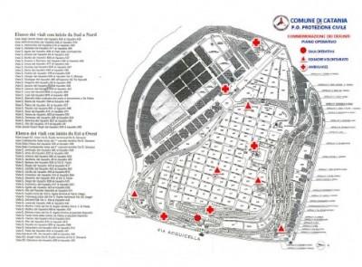 La piantina del cimitero di Catania
