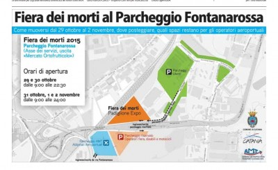 Piantina parcheggio Fontanrossa fiera dei morti