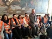 Assessore D'Agata con i facilitatori