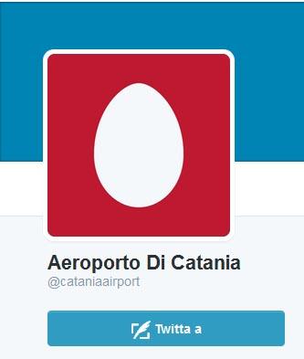 Aereoporto Catania su Twitter