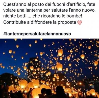 lanterne al posto dei botti di Capodanno