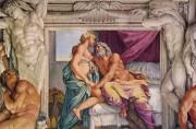 """""""Gli Amori degli Dei"""" di Annibale Carracci (Giove e Giunone, Galleria Farnese, Roma)"""