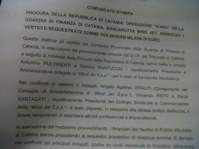 arresto Nino Pulvirenti e Stefano Rantuccio