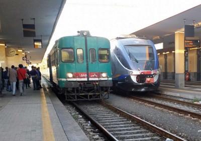 Minuetto e ALn 668 Catania treni sicilia