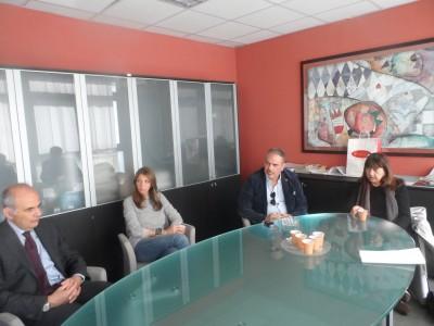Visita del commissario della provincia, Maria Costanza Lentini, alla Pubbliservizi