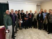 cordata confindustria, camera di commercio, Foto di gruppo delle trenta associazioni, con Iva Lo Bello