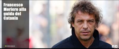 Francesco Moriero nuovo allenatore del Calcio Catania