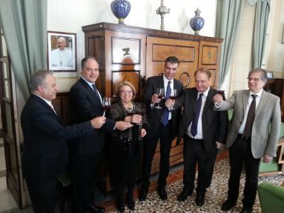 Un brindisi di buon augurio con Pagliaro, Castiglione, Mariella Lo Bello, Rizzo, Cracolici