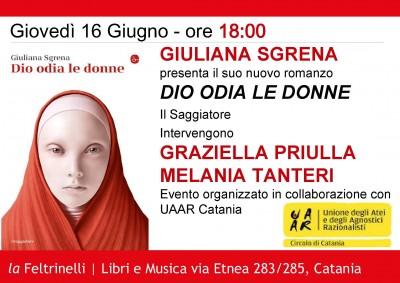 """""""Dio odia le donne"""" il libro di Giuliana Sgrena"""