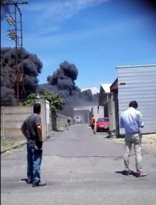 incendio zona industriale catania 07.06