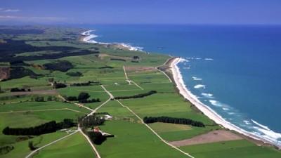 La costa di Kaitangata in Nuova Zelanda