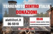 Aiuti terremoto Centro Italia