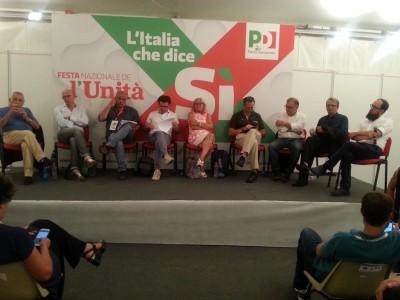 I relatori sul tema rifiuti alla Festa dell'Unità