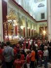 La navata della chiesa del SS Salvatore con i fedeli