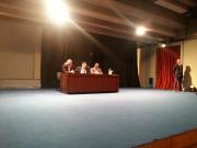 La conferenza alla Pubbliservizi, da sinistra Vicari, Crocetta e Messina