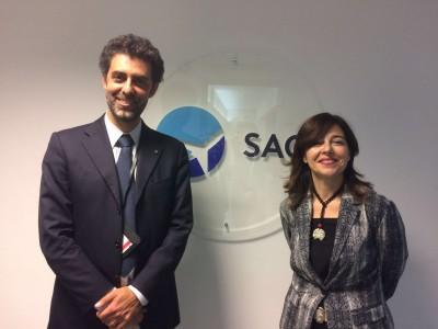 Nico Torrisi e Daniela Baglieri, ad e presidente di Sac SpA