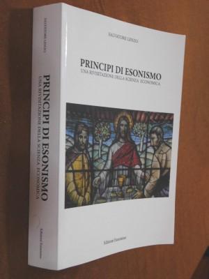 Principi di esonismo la copertina del libro di Salvatore Lenzo