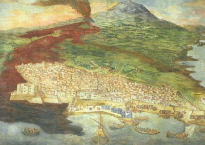 Etna_eruzione_1669 nel dipinto di Giacinto Platania