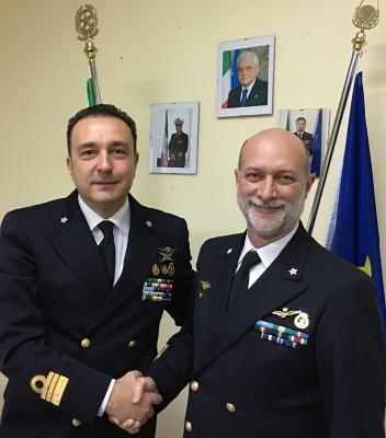 I due comandanti di fregata Roberto D'Arrigo e Agostino Baldacchini