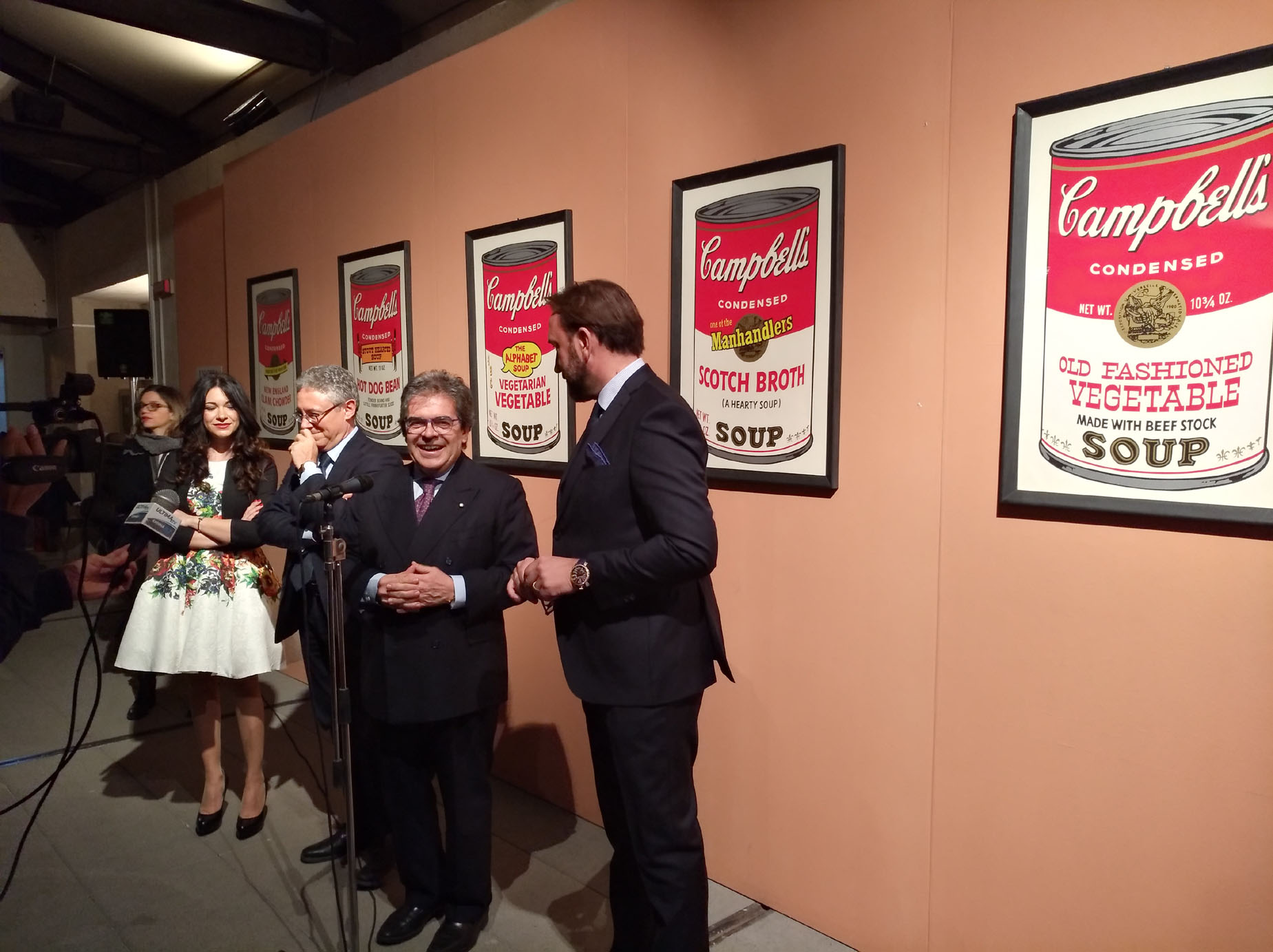 Inaugurazione mostra Andy Warhol